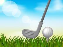 Illustrazione del fondo di golf illustrazione vettoriale