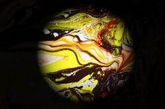 Illustrazione del fondo di pendenza della forma liquida Fotografie Stock Libere da Diritti