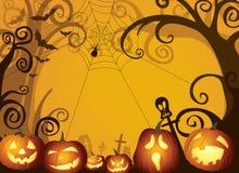 Illustrazione del fondo di progettazione delle zucche di Halloween Fotografia Stock