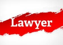 Illustrazione del fondo di Red Brush Abstract dell'avvocato royalty illustrazione gratis