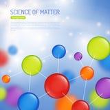 Illustrazione del fondo di scienza illustrazione di stock
