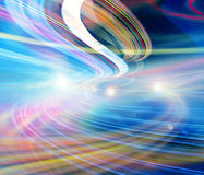 Illustrazione del fondo di tecnologia, velocità astratta Fotografia Stock