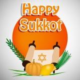 Illustrazione del fondo ebreo di sukkot di festa illustrazione di stock