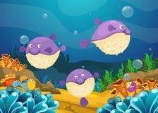 Illustrazione del fondo subacqueo del mare royalty illustrazione gratis
