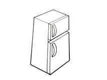 Illustrazione del frigorifero della cucina immagine stock libera da diritti