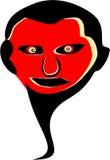 Illustrazione del fronte del fantasma Fotografie Stock Libere da Diritti