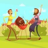 Illustrazione del fumetto del barbecue Immagini Stock