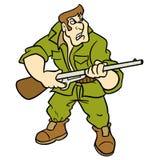 Illustrazione del fumetto del cacciatore Fotografia Stock Libera da Diritti