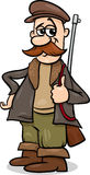 Illustrazione del fumetto del cacciatore di fiaba Fotografia Stock