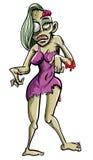 Puttana delle zombie illustrazione vettoriale