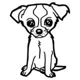 Illustrazione del fumetto del cane divertente per il libro da colorare Immagini Stock Libere da Diritti