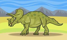Illustrazione del fumetto del dinosauro del triceratopo Fotografie Stock Libere da Diritti