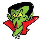 Illustrazione del fumetto del vampiro del Dracula Fotografia Stock