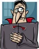 Illustrazione del fumetto del vampiro di Halloween Fotografia Stock