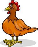 Illustrazione del fumetto dell'animale da allevamento della gallina Fotografia Stock