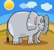 Illustrazione del fumetto dell'elefante africano Fotografia Stock Libera da Diritti