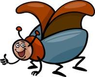 Illustrazione del fumetto dell'insetto dello scarabeo Fotografie Stock Libere da Diritti