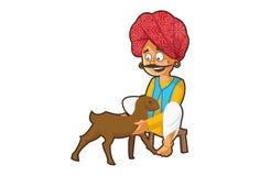 Illustrazione del fumetto dell'uomo di Rajasthani illustrazione vettoriale