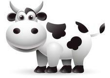 Illustrazione del fumetto della mucca Immagini Stock Libere da Diritti