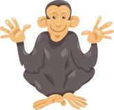 Illustrazione del fumetto della scimmia dello scimpanzè Fotografia Stock