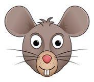Illustrazione del fumetto della testa del topo Immagini Stock