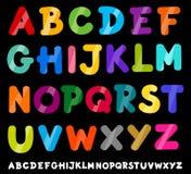 Illustrazione del fumetto di alfabeto delle lettere maiuscole Immagini Stock