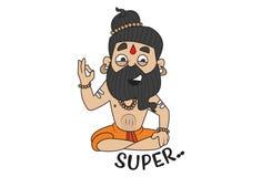 Illustrazione del fumetto di Baba Ramdev royalty illustrazione gratis