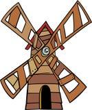 Illustrazione del fumetto di clipart del mulino a vento Fotografia Stock