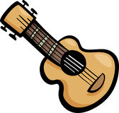 Illustrazione del fumetto di clipart della chitarra Immagini Stock
