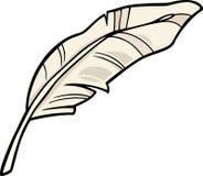 Illustrazione del fumetto di clipart della piuma Immagine Stock