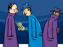 Illustrazione del fumetto di corruzione o di crimine Fotografie Stock Libere da Diritti