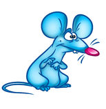 Illustrazione del fumetto di meraviglia del ratto Fotografia Stock Libera da Diritti