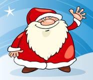 Illustrazione del fumetto di natale del Babbo Natale Fotografia Stock