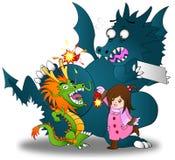Illustrazione del fumetto di poco gioco cinese asiatico della ragazza royalty illustrazione gratis