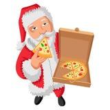 Illustrazione del fumetto di Santa Claus sveglia illustrazione di stock