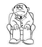 Illustrazione del fumetto di un uomo Fotografia Stock Libera da Diritti
