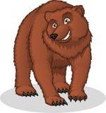 Illustrazione del fumetto di vettore dell'orso bruno di alta qualità Fotografie Stock Libere da Diritti