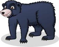 Illustrazione del fumetto di vettore dell'orso nero di alta qualità Fotografie Stock Libere da Diritti