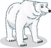 Illustrazione del fumetto di vettore dell'orso polare di alta qualità Fotografia Stock Libera da Diritti