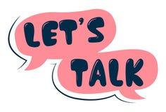 Illustrazione del fumetto di vettore del testo di conversazione del ` s Let illustrazione vettoriale