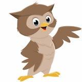Illustrazione del fumetto Owl Fotografia Stock