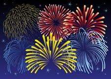 Illustrazione del fuoco d'artificio. royalty illustrazione gratis