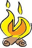 Illustrazione del fuoco di accampamento Immagine Stock