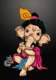 Illustrazione del ganesh del bambino Immagine Stock