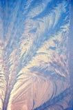 Illustrazione del gelo su vetro fotografie stock