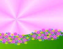 Illustrazione del giardino di fiore Fotografia Stock Libera da Diritti