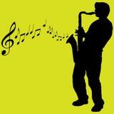 Illustrazione del giocatore del sassofono Immagine Stock