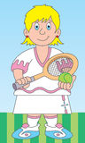 Illustrazione del giocatore di tennis Immagine Stock Libera da Diritti