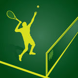 Illustrazione del giocatore di tennis illustrazione vettoriale