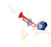 Illustrazione del giocatore di tromba Fotografia Stock